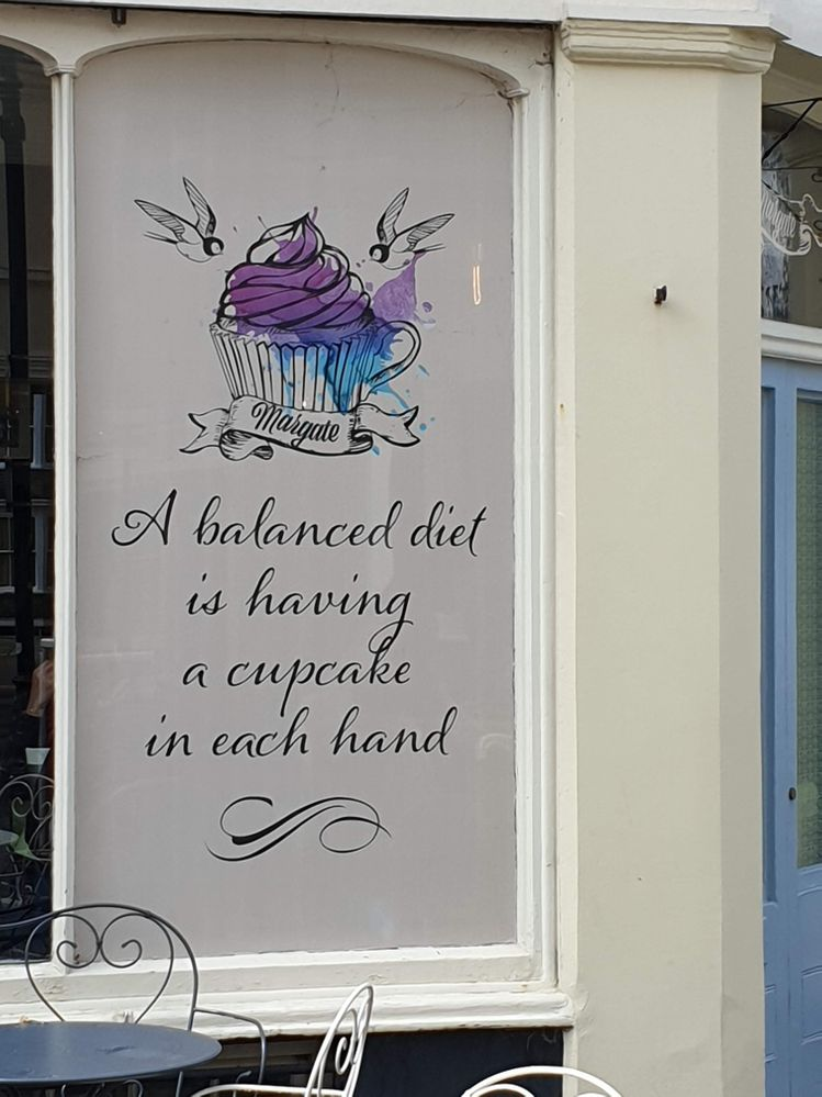 Love this sign on one of the tea shops in Margate
