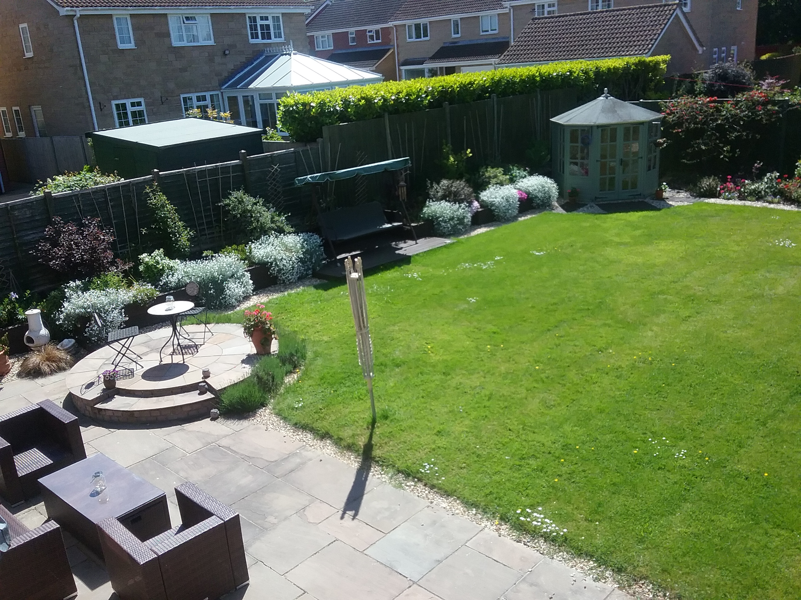 Our garden from upstairs
